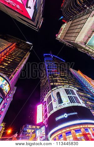 Times Square in NYC at night