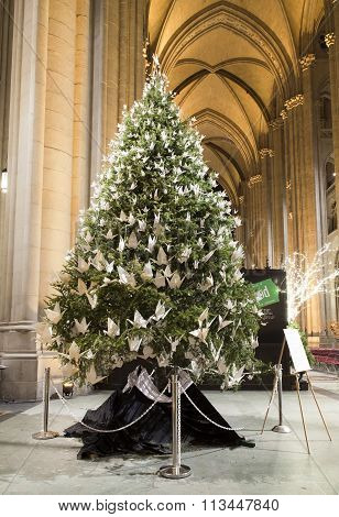 Christmas Tree Inside Saint John Divine Church