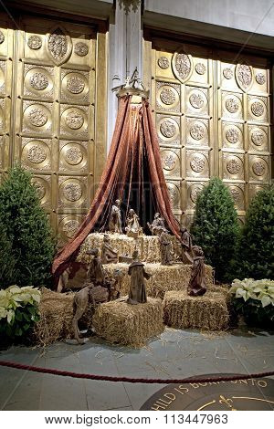 Nativity Scene Inside Saint John Divine Church