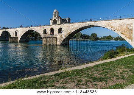 France, Pont Saint-benezet In Avignon