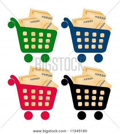 parcels of goods transportation within the shopping cart
