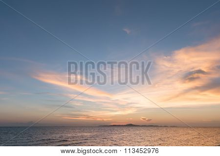 Sea And Sky At Sunset From Thailand Beach