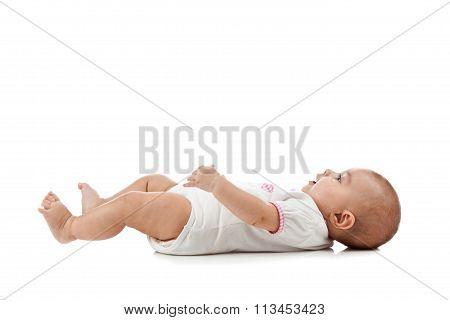Baby Lying On Her Back