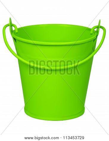 Empty Bucket - Green
