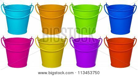 Empty Buckets - Colorful
