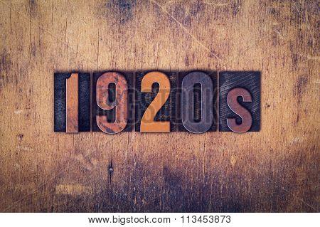 1920S Concept Wooden Letterpress Type