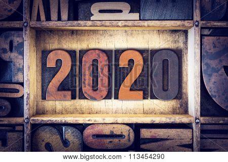 2020 Concept Letterpress Type