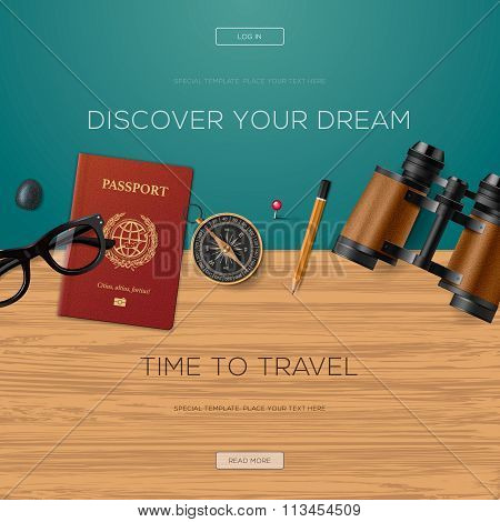 Travel and adventure template, discover your dream