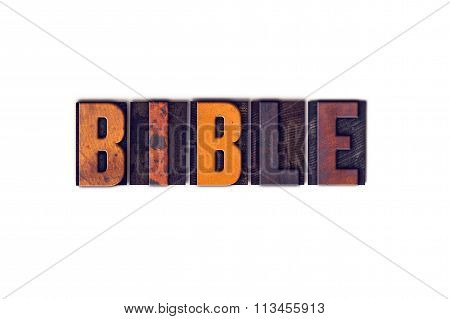 Bible Concept Isolated Letterpress Type