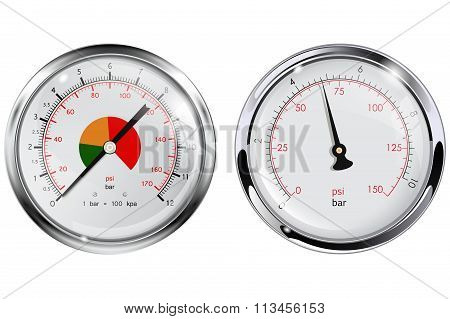 Steel Manometer for water pipes.