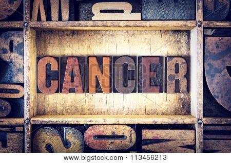 Cancer Concept Letterpress Type