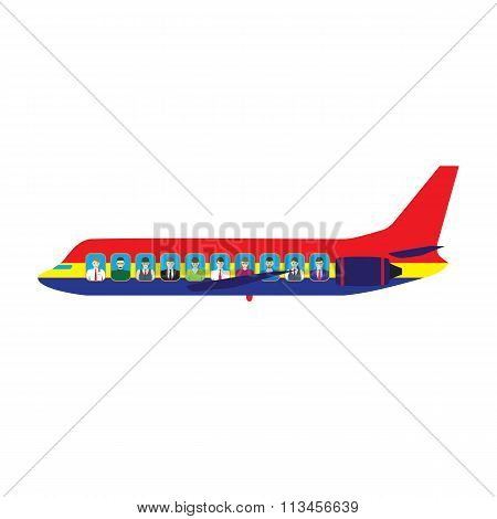 Passengers On The Plane.