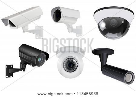 CCTV security camera set .