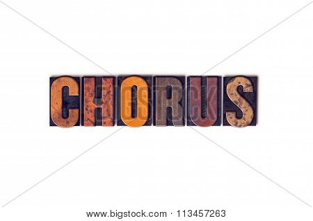Chorus Concept Isolated Letterpress Type