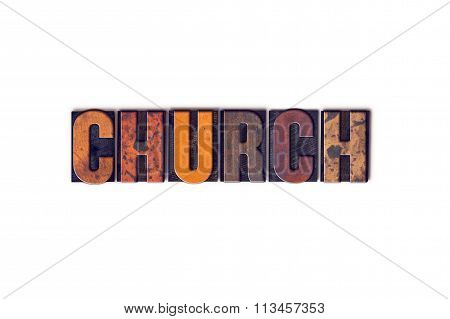 Church Concept Isolated Letterpress Type
