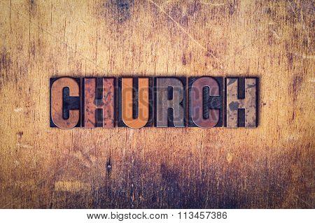 Church Concept Wooden Letterpress Type