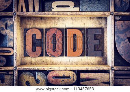 Code Concept Letterpress Type