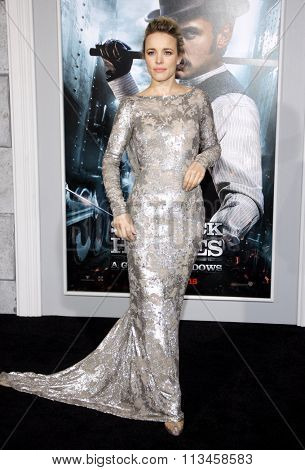 WESTWOOD, CALIFORNIA - December 6, 2011. Rachel McAdams at the Los Angeles premiere of