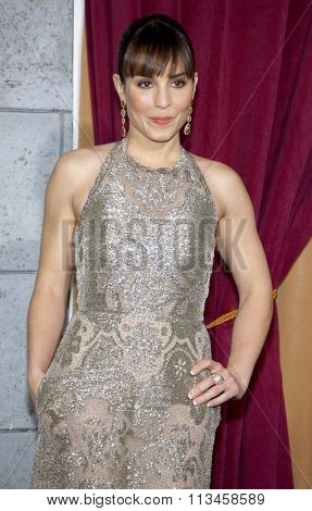 WESTWOOD, CALIFORNIA - December 6, 2011. Noomi Rapace at the Los Angeles premiere of