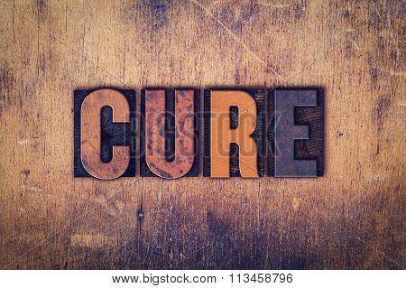 Cure Concept Wooden Letterpress Type