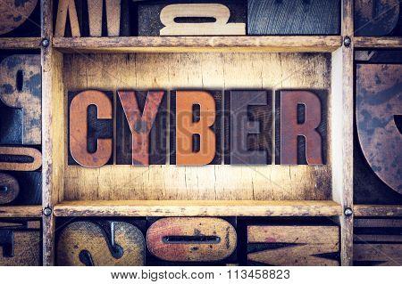Cyber Concept Letterpress Type