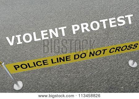 Violent Protest Concept