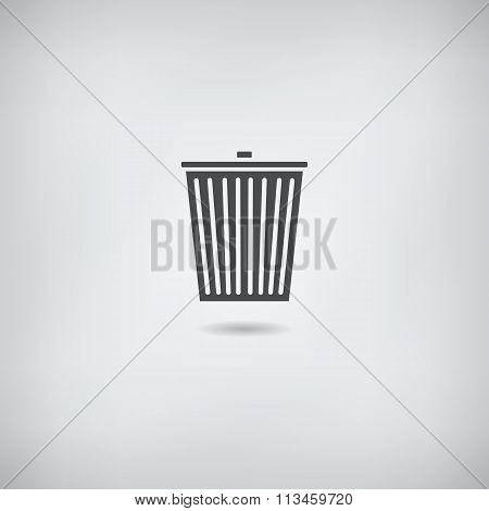 Trash bin icon vector