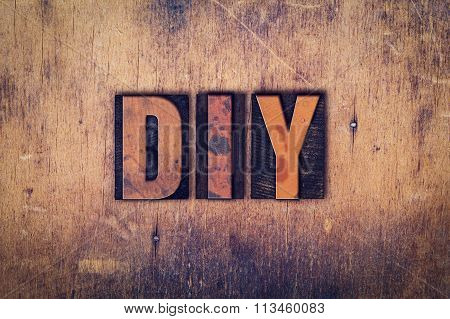 Diy Concept Wooden Letterpress Type