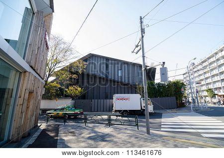 Tokyo, Japan - November 24, 2013: People Visit Nezu Museum In Tokyo, Japan.