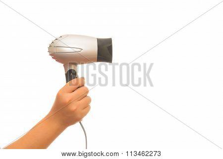 Woman In Towel Blow-dry