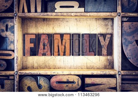 Family Concept Letterpress Type