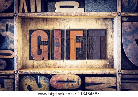 Gift Concept Letterpress Type