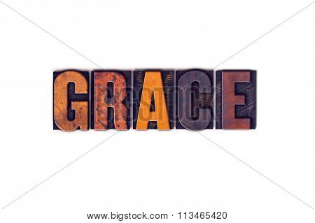 Grace Concept Isolated Letterpress Type