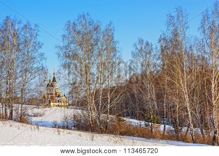 Siberian Winter Landscape With Church