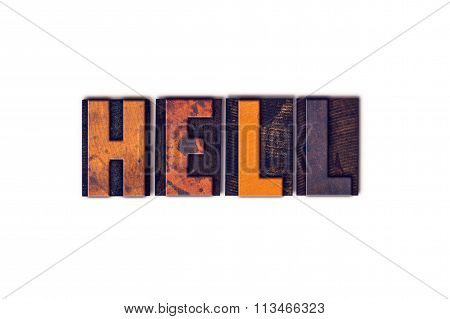 Hell Concept Isolated Letterpress Type