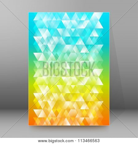 Background Rainbow Triangles Whitish Cover Page Brochure