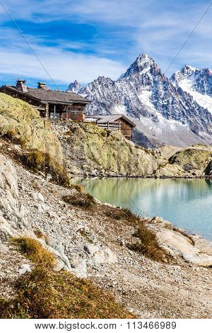 Lac Blanc,lac Blanc Refuge,mountain Range- France