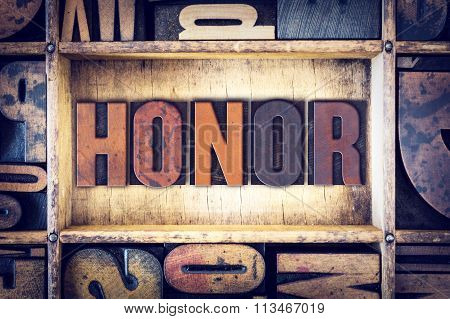 Honor Concept Letterpress Type