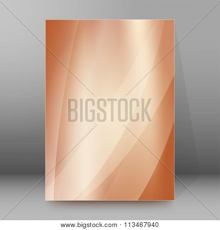 Brown Gradient Blur Background Brochure Cover Page