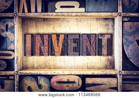Invent Concept Letterpress Type