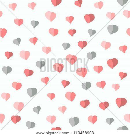 Seamless heart pattern. Valentine's background
