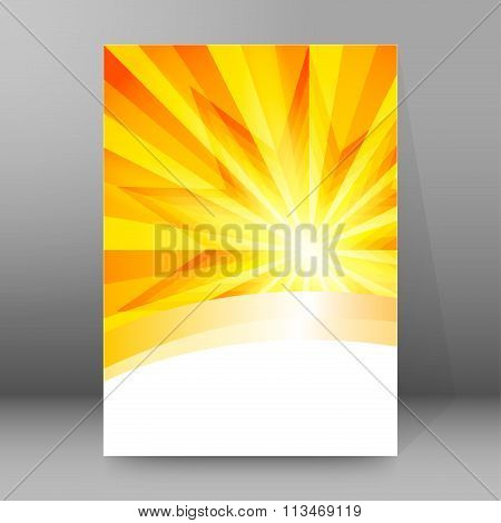 Dawn Sun Rays Sharp Cover Page Brochure