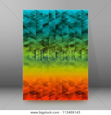 Dirty Background Rainbow Triangles Cover Page Brochure