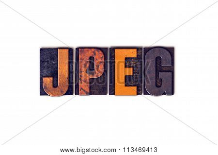 Jpeg Concept Isolated Letterpress Type