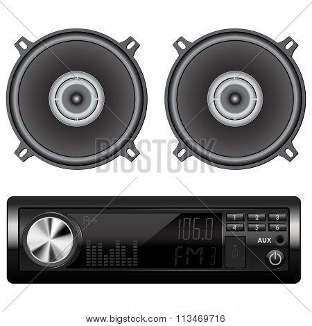 Car Audio With Speakers.