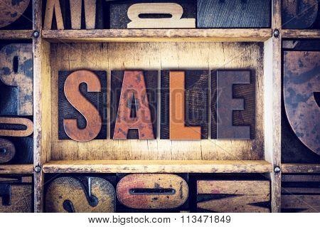 Sale Concept Letterpress Type