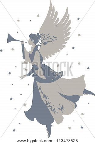 Beautiful angel silhouette