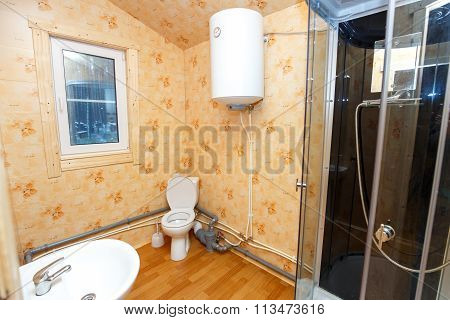 Interior Of Country Hotel Toilet