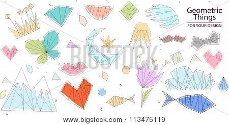 Vector hipster abstract geometric background with butterfly. backgraund with insects. Kids seamless