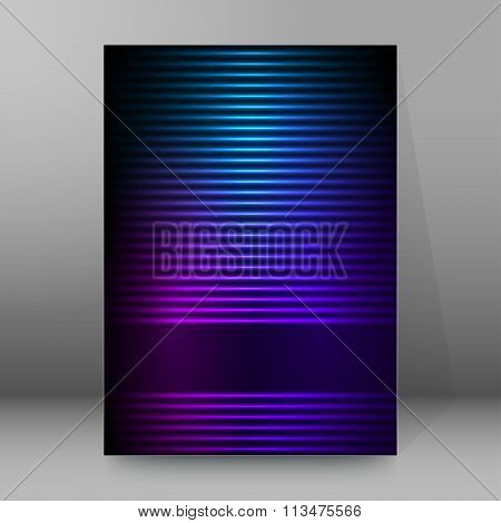 Glow Horizontal Lines Cover Page Brochure Background